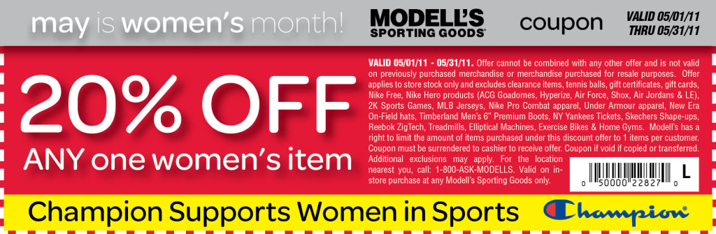 Modells printable store coupons