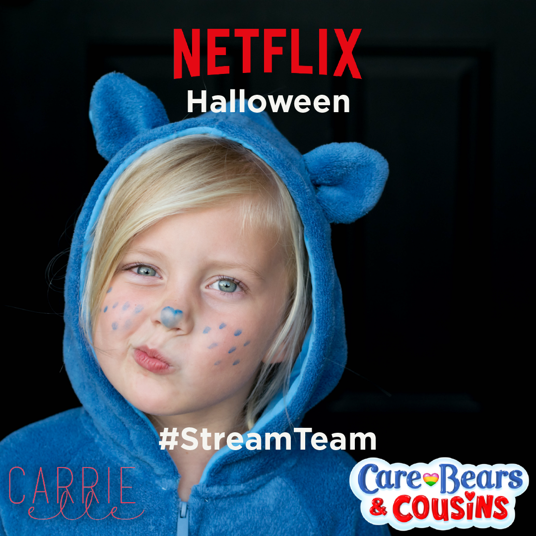 Check out this EASY to DIY Netflix NO SEW Carebears Costume for Halloween