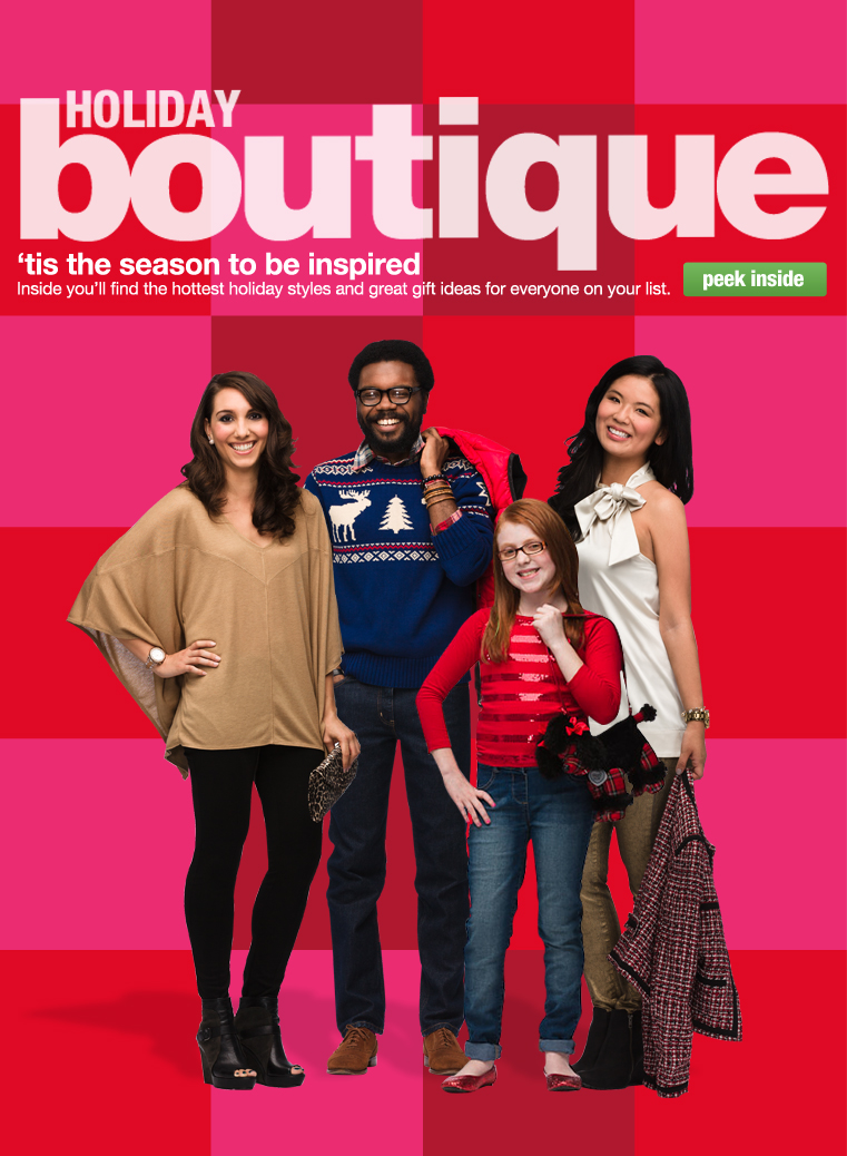 We 39 re getting our close up on in jcpenney 39 s holiday for Holiday boutique