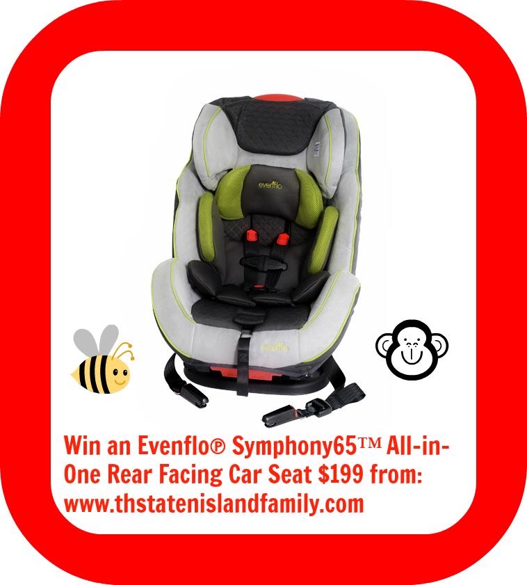 Evenflo® Symphony65™ All-in-One Rear Facing Car Seat  featuring SureLatch® Connectors at thestatenislandfamily.com