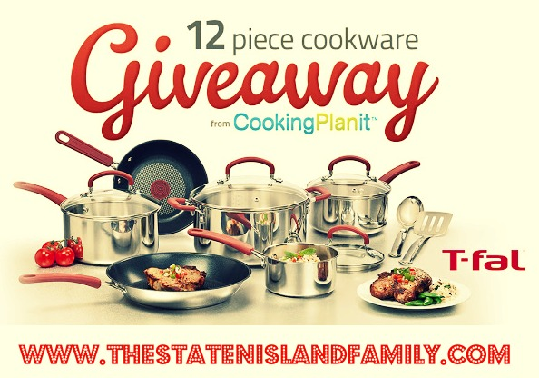 We are giving away a 12-piece T-Fal Cookware set at www.thestatenislandfamily.com