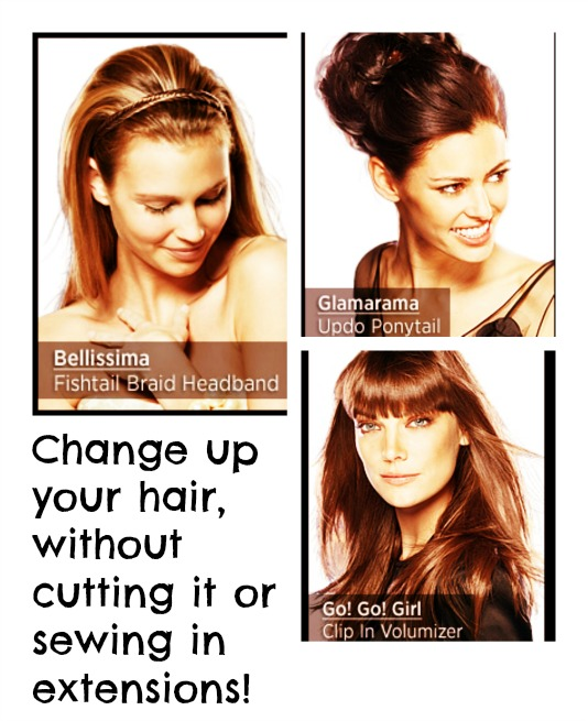 Change up your hair, without cutting it or sewing in extensions!