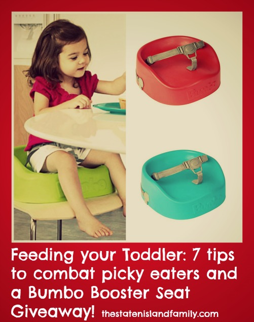 Feeding your Toddler: 7 tips to combat picky eaters and a Bumbo Booster Seat Giveaway!