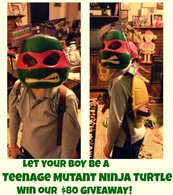 Let your BOY Be a  Teenage Mutant Ninja Turtle Win our  $80 GIVEAWAY!
