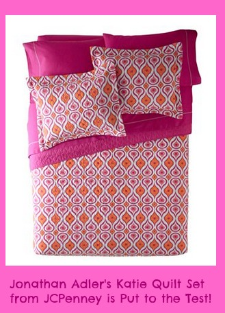 Jonathan Adler's Katie Quilt Set from JCPenney is Put to the Test!