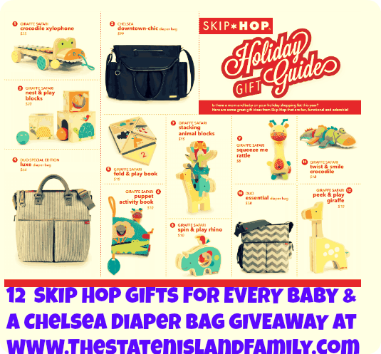 12  Skip Hop Gifts for EVERY Baby & a Chelsea Diaper bag GIVEAWAY at www.Thestatenislandfamily.com
