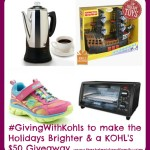 #GivingWithKohls to make the Holidays Brighter and a KOHl's $50 Giveaway!