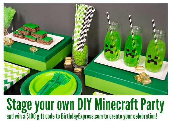 stage your own diy minecraft party and win a 100 gift code to