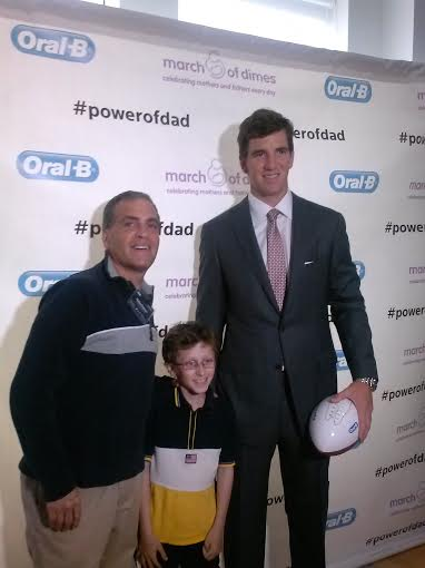 New York Giants Quarterback Eli Manning Shares His Thoughts on Fatherhood #PowerofDad