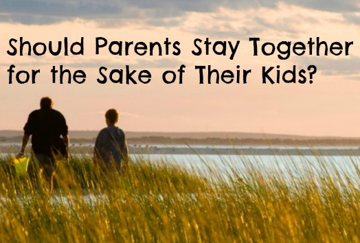 should unhappy couples stay together for children