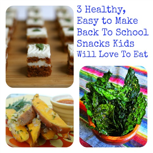 Three healthy easy to make back to school snacks kids for Easy after school snacks for kids to make
