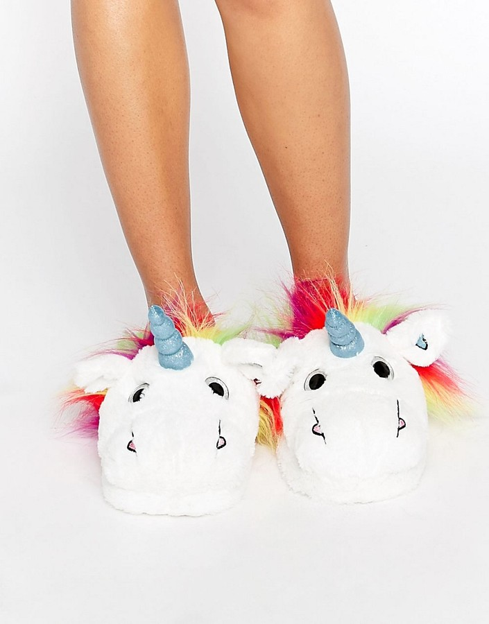ASOS NEVADA SKY Unicorn Slippers