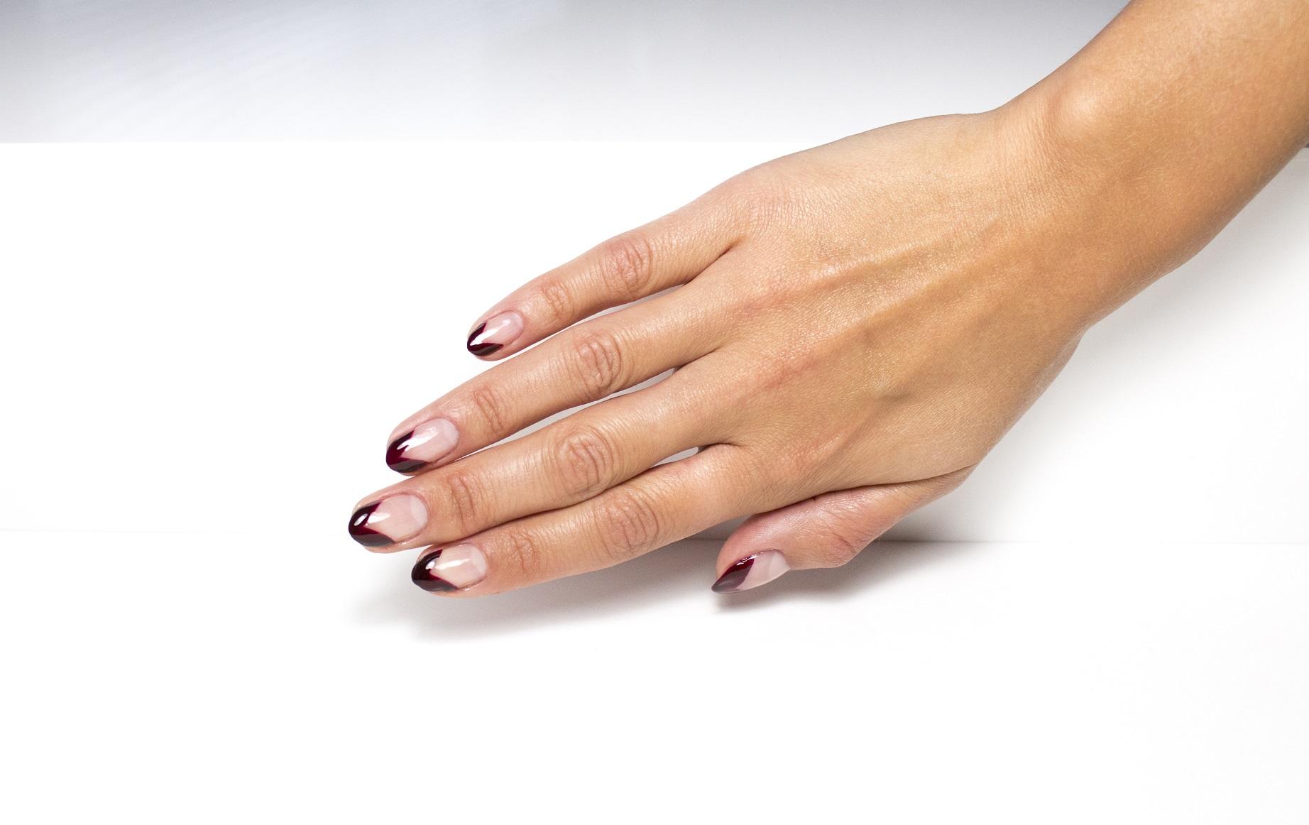DIY Bloody Tip Halloween Manicure