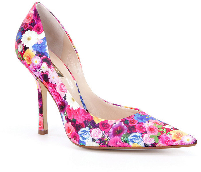 Love these Guess Carrie Floral Pointed-Toe d'Orsay Pumps