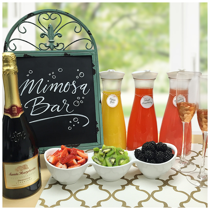 Strawberry Mint Mimosa Bar