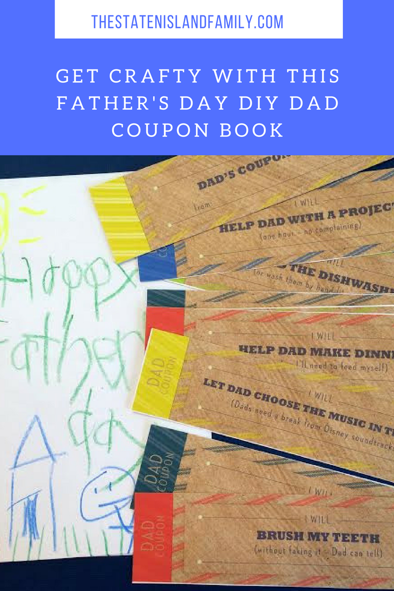 get crafty with this father u0026 39 s day diy dad coupon book