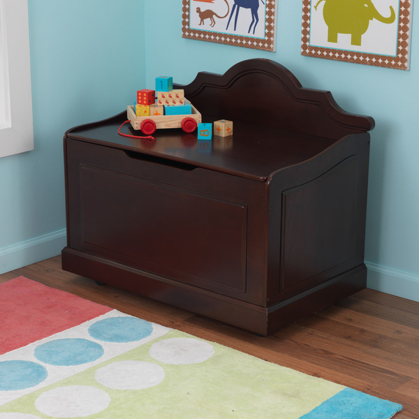 Make cleaning up the playroom simple for your children with this Raleigh toy box from KidKraft.