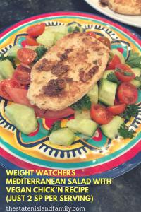 Weight Watchers Mediterranean Salad with Vegan Chick'n Recipe (Just 2 SP per serving)