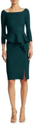 Chiara Boni La Petite Robe Peplum Knee-Length Sheath Dress