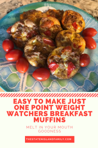 Easy to Make Just ONE POINT Weight Watchers Breakfast Muffins