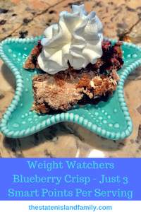 Weight Watchers Blueberry Crisp – Just 3 Smart Points Per Serving (Kids will Go Gaga for it too)