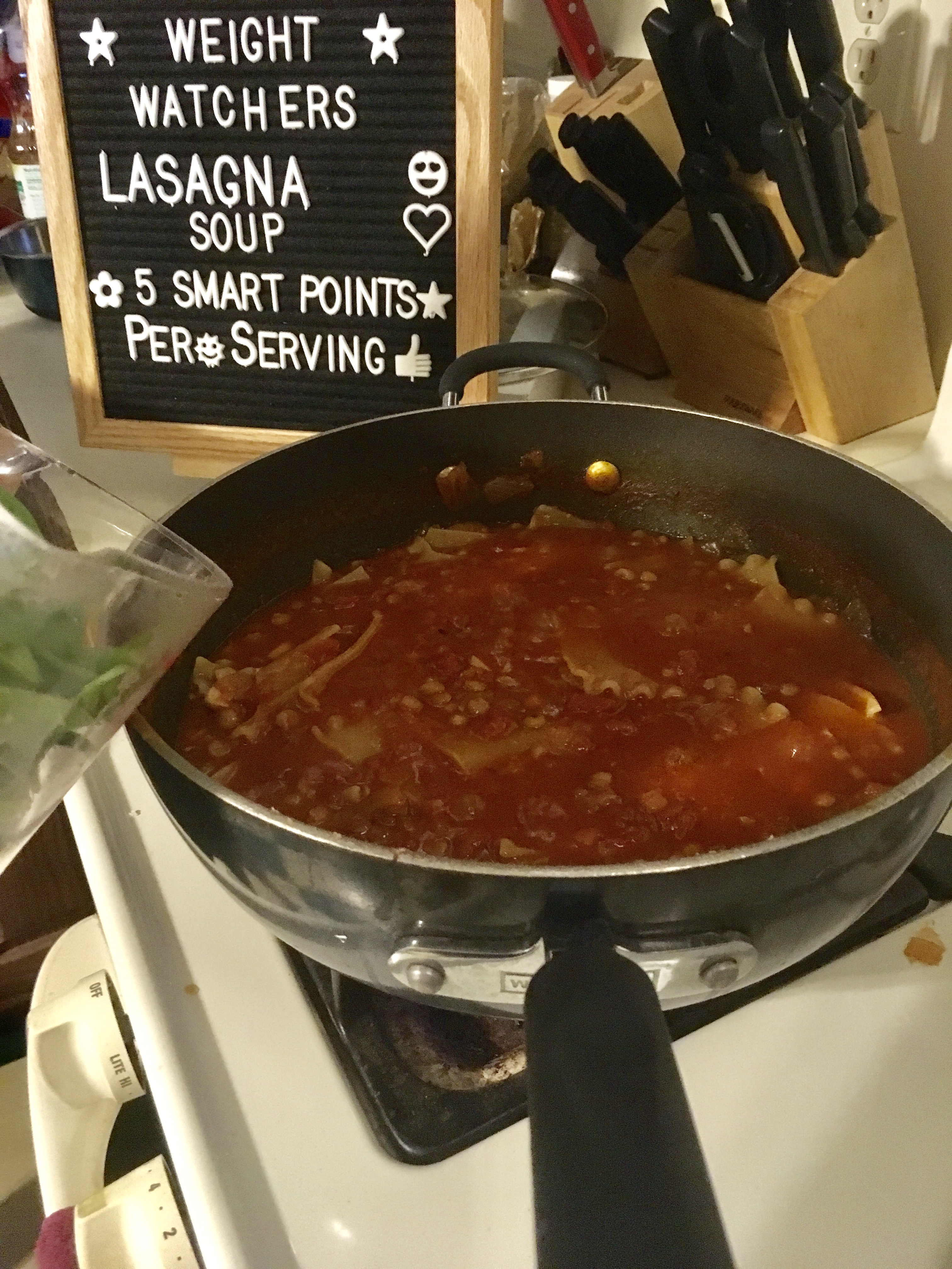 One Pot Lasagna Soup 5 points per serving on Weight Watchers