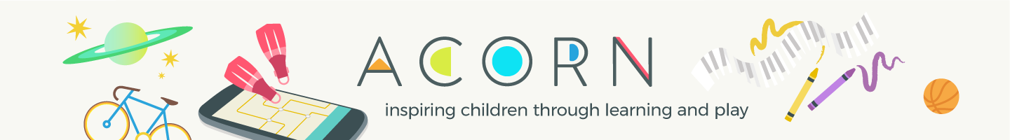 Get the Acorn  APP and Kick Start your child's Creative Juices