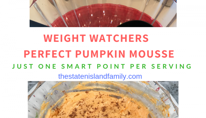 Weight Watchers one Point Perfect Pumpkin Mousse