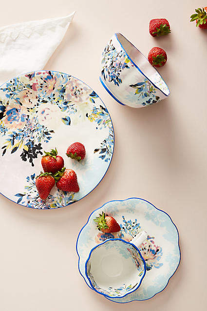 Demure, handpainted florals elevate this classic collection that's worthy of contemporary and traditional kitchens alike.