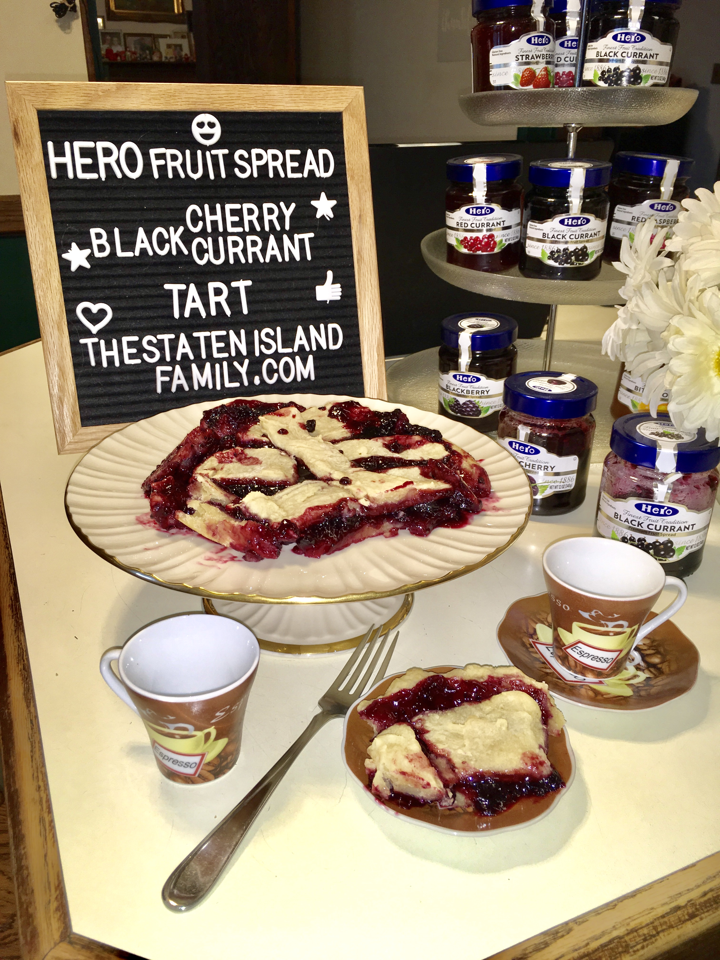 This Vegan Hero Fruit Black Cherry and Black Currant Tart Recipe is EVERYTHING