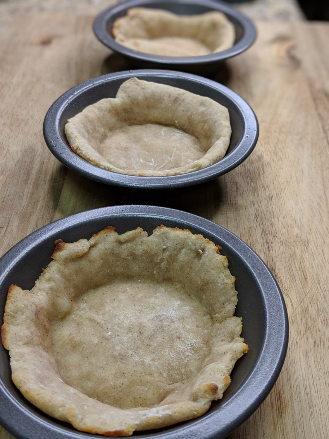Make Peanut Butter Chocolate Pies using 2-ingredient dough pie crust as a base that everyone loves!