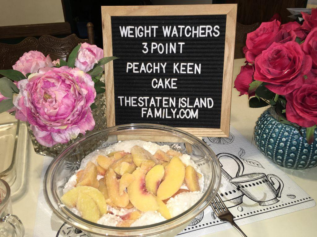 Weight Watchers Peachy Keen Cake