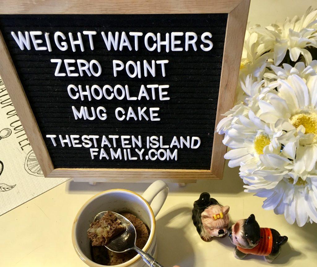 Weight Watchers Zero Point Chocolate Mug Cake