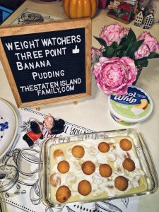 Weight Watchers Banana Pudding - just three points per serving