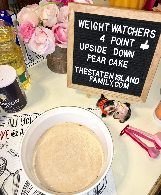 Weight Watchers Upside Down Pear Cake